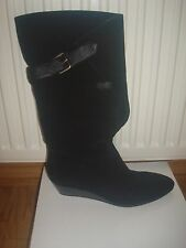 EUC NINE WEST wedge suede boots NWYOURSOCUTE size 7 1/2