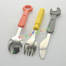 Wrench Screwdriver Portable Travel Kids Adult Cutlery Fork Spoon Picnic Set