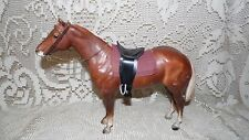 VINTAGE BREYER MOLDING COMPANY HORSE WITH CLOTH AND SADDLE STIRRUPS