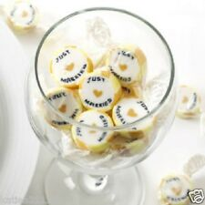 wedding Just Married gold candy buffet rock wrapped sweets x 25