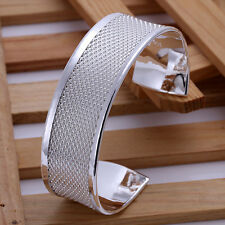 Fashion Cool 925Sterling Silver Strong Men Bangle Cuff Bracelet GB048