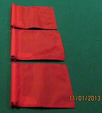 """PUTTING GREEN FLAGS -  SET OF 3 RED - SIZE 6""""X8"""""""