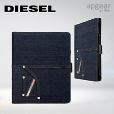 COVER Custodia Folio DIESEL LIBRETTO Denim Blu Apple iPad 2 3 4 Air pulsante di blocco