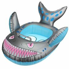 Baby Child Infant Kids Inflatable Swimming Pool Seat Float Ring Grey Shark Shape