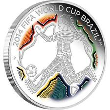 2014 FIFA World Cup Brazil 1/2oz 50c Silver Proof Coin, Perth Mint