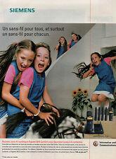 Publicité 1999  SIEMENS téléphone sans fil numérique Gigaset 3015 Comfort