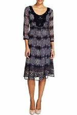 BNWT M&S PER UNA BLACK BLUE ANIMAL PRINT PARTY DRESS LONG TUNIC TOP SIZE 10