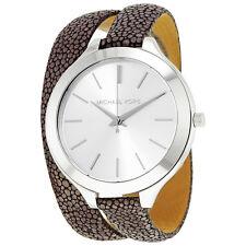 Michael Kors Slim Runway Silver Dial Double Wrap Ladies Watch MK2475
