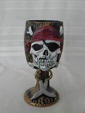 PIRATE SKULL GOBLET FANCY COSTUME ACCESSORY USED HALLOWEEN MALE MULTI-COLOR