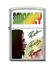 Zippo 7108 Bob Marley Rock Roots Reggae Street Chrome Full Size Lighter