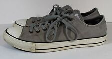 USED CONVERSE CHUCK TAYLOR ALL STAR Gray Canvas Low Top Sneaker Shoes Mens Sz 12