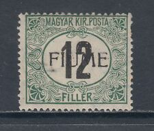 Fiume Sc J2 MLH. 1918 12f Postage Due, F-VF, signed