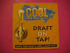 Beer Bar Coaster ~*~ COOL Beer Brewing Co Lager ~ Draft on Tap ~ Toronto, CANADA