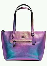 NWT COACH Taylor Tote in Hologram Iridescent Leather Purse Style 57329