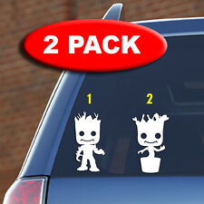 2 PACK - Little Groot -Vinyl decal, car, laptop, marvel, guardians of the galaxy
