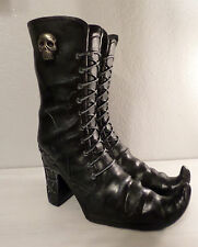 1 PAIR BLACK WITCH BOOTS HALLOWEEN PROPS FLORAL HOLDER - CAN ADD FLOWERS DECOR