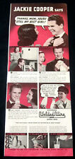 1939 Jackie Cooper part-page clipping ad for Milk with Welded Wire seals