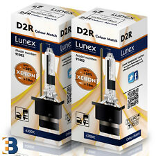 2 x D2R Genuine LUNEX XENON BULB  P32d-3 Original 35W 4300K Colour Match +50%