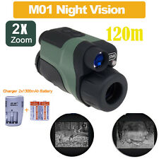 M01 2x24 Handheld IR De Visión Nocturna Monocular Toma Fotos Video+Batteries