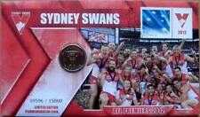 AFL PREMIERS SYDNEY SWANS 2012 PNC STAMP AND COIN COVERS - LIMITED EDITION