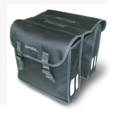 CYCLE PANNIER PANNIERS BAG SET BAGS XL 35 Litre Basil Mara Water Resistant BLACK