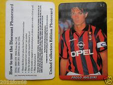 1997 phone cards $ 2 paolo maldini milan schede telefoniche 1997 telefonkarten