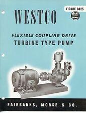 """Vintage """"WESTCO"""" Sales Brochure: TURBINE PUMP Model 6825"""