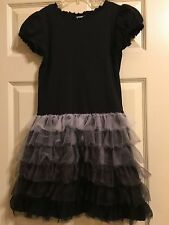 *HANNA ANDERSSON* Girls Black with Layers of Tulle Dress Size 150 11-12-13