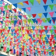 Creative 10M Rainbow Colorful Bunting Flags Wedding Outside Banner Decoration