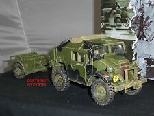 KING AND COUNTRY DD202 MORRIS C8 FIELD ARTILLERY TRACTOR TRUCK + LIMBER VEHICLE