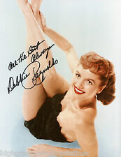DEBBIE REYNOLDS AUTOGRAPHED SIGNED 8X10 COLOR  PRESS PHOTO BLACK LINGERIE