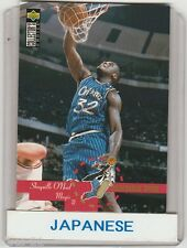 Shaquille O'Neal Orlando Magic Japanese Basketball Card