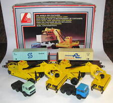Lima 2x container unloading crane + lorry + wagon  1x boxed Lima 60 0990