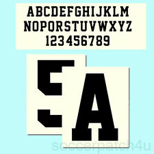 Custom Iron On Heat Transfer TPU Letter or Number, Team Sports Font, 11 Colors