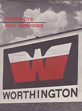 VINTAGE CATALOG #2801 - 1962 WORTHINGTON MACHINERY