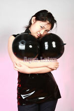 Unisex Rubber Latex Top Suit Big Inflatable Boob with Rubber Spike Nipples