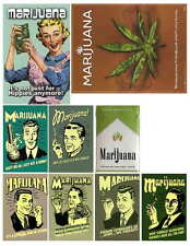 MARIJUANA HUMOR  PHOTO-FRIDGE MAGNETS SET OF 9