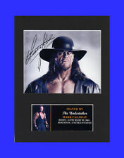 The Undertaker WWE WWF Quality signed Mounted Pre-Print 8 x 6in A5