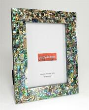 Genuine Abalone Paua Shell  Mother of Pearl Picture Frame 5 X 7 Photo Handmade