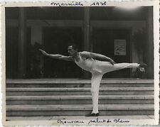 PHOTO ANCIENNE - VINTAGE SNAPSHOT - SPORT GYMNASTIQUE GYM HOMME MUSCLE MODE 1936