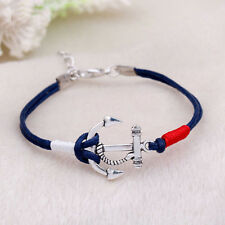 Retro Damen Anker Armband Gewickelt Anchor Bracelet Blogger Armkette Geschenk
