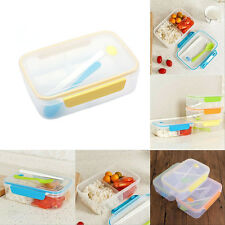 Microwave Bento Lunch Box + Spoon Utensils Picnic Food Container Storage Box