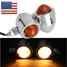 Chrome Turn Signals Light For Kawasaki Vulcan VN 500 800 900 Classic Custom