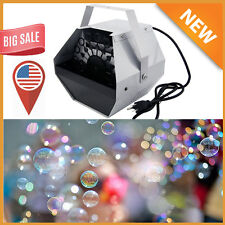 Automatic Deluxe 16 Wand Bubble Maker Machine Auto Blower For DJ Party Kids Fun#