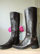 Geox brown genuine leather boots uk 8/ eur 41