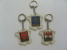 PORTE CLE ANCIEN :  LOT DE 3 CHOCOLAT FAVARGER / carte de France / KEYCHAINS PC6