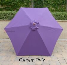 9ft Patio Outdoor  Market Umbrella Replacement  Canopy  Cover Top 6 rib Purple