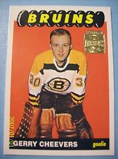 2001-02 Topps/OPC Archives Reprint # 23 of 1965-66 OPC # 31 Gerry Cheevers RC!
