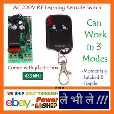 E93N Programmable Multiuse AC 220V Volt 1 Way Channel RF Learning Remote Switch