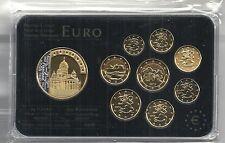 Finnland Euro Prestige Coinset, Gold & Rhodium, 24 Karat Gold, Neu, OVP, SELTEN
